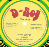 Maisha & Ansel Collins - Night Doctor / Ansel Collins - French Connection (D-Roy) 12""